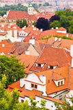 Tile roofs of the old city. Top view Royalty Free Stock Photos