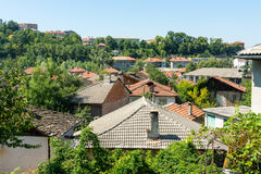 Tile roofs of the old Lovech, Bulgaria Stock Photo