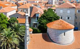 Tile roofs of old town Stock Photo