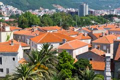 Tile roofs of old town Royalty Free Stock Photography
