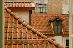 Tile roofs over centre of old town Royalty Free Stock Image