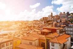 Tile roofs of Porto, Portugal Stock Photos