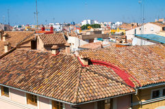 Tile roofs in Valencia, Spain Royalty Free Stock Image