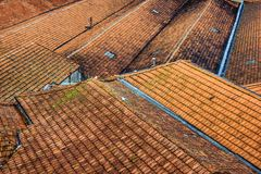 Tile Rooftops Stock Photography