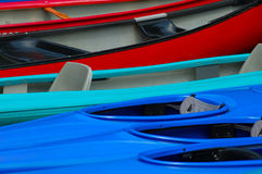 Tile of rowboats. Various rowboats in different colors Stock Images