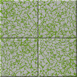 Tile rubble. Texture of a ceramic tile of a green shade with stone or rubble drawing Stock Image