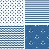 Tile sailor vector pattern set Stock Images