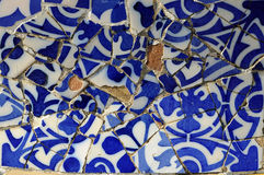 Tile Series 11, Guell Parc. Beautiful Tiles of Guel  Park, Barcelona Stock Photo
