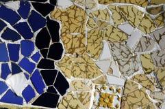 Tile Series 2, Guell Parc. Beautiful Tiles of Guel  Park, Barcelona Stock Photos