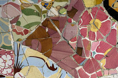 Tile Series 5, Guell Parc. Beautiful Tiles of Guel  Park, Barcelona Stock Photo