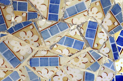 Tile Series 6, Guell Parc. Beautiful Tiles of Guel  Park, Barcelona Stock Photo