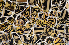 Tile Series 9, Guell Parc. Beautiful Tiles of Guel  Park, Barcelona Royalty Free Stock Photos