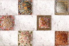 Tile series, Guell Parc Stock Photography