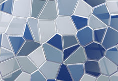 Tile shine background tessellation. 3D abstract render background in blue toned Royalty Free Stock Images