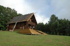 Tile Shingles on a log house Royalty Free Stock Photos