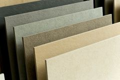 Tile show. Close-up for a set of tile with natural stone surface show on shelf Stock Photos