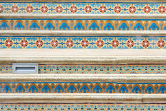 Tile stairs. The close-up of tile stairs stock photo