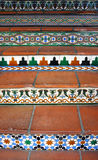 Tile stairs. Full frame shot of tiled stairs stock images