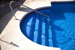 Tile stairs pool Stock Images