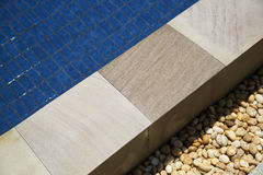 Tile with swimming pool edge Stock Image