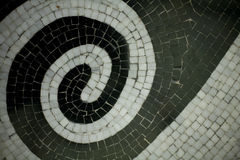 Tile Swirl. Horizontal image of a swirl shaped tile pattern stock photos