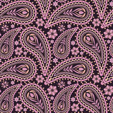 Seamless pink   pattern with paisley. Vector print. Stock Photo