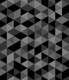 Tile vector background with black and grey triangle Royalty Free Stock Photos