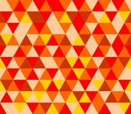 Tile vector background with yellow, red and brown triangle Royalty Free Stock Photos