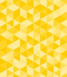 Tile vector background with yellow triangle mosaic Stock Image
