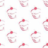 Tile vector cupcake pattern Stock Photography