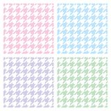 Tile vector houndstooth pastel pattern set Royalty Free Stock Images