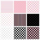 Tile vector pastel pattern set Royalty Free Stock Images