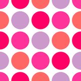 Tile vector pattern with big polka dots on white background Stock Photo