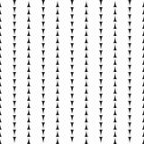 Tile vector pattern with black arrows on white background Stock Image