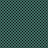 Tile vector pattern with black polka dots on green background Stock Images