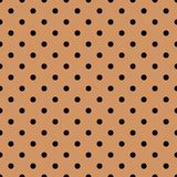 Tile vector pattern with black polka dots on pastel coral background. For seamless decoration wallpaper vector illustration