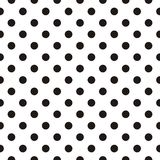 Tile vector pattern with black polka dots on white background. For seamless decoration wallpaper Royalty Free Stock Photography