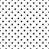 Tile vector pattern with black polka dots on white background Royalty Free Stock Photo