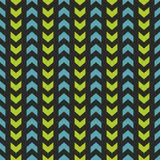 Tile vector pattern with blue and mint green zig zag Royalty Free Stock Image