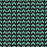 Tile vector pattern with blue or mint green zig zag Royalty Free Stock Image