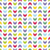 Tile vector pattern with colorful pastel arrows on white background Royalty Free Stock Photos