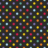 Tile vector pattern with colorful polka dots Stock Image