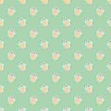 Tile vector pattern with cupcakes on mint green background Stock Photography