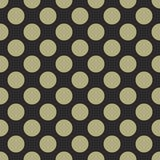 Tile vector pattern with green polka dots on black background Royalty Free Stock Photography