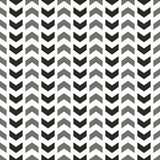 Tile vector pattern with grey and black arrows on white background Stock Photos