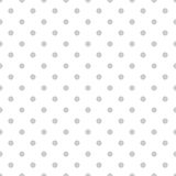 Tile vector pattern with grey polka dots on white background Stock Image