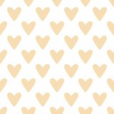 Tile vector pattern with hearts on white background Royalty Free Stock Image