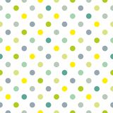 Tile vector pattern with polka dots on white background Royalty Free Stock Photos