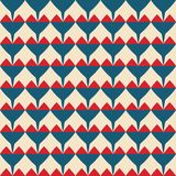 Tile vector pattern with red and blue hearts on pastel background Stock Photos