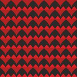 Tile vector pattern with red hearts on black background. For seamless decoration wallpaper Vector Illustration